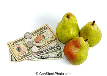inflationary  food costs pears and money