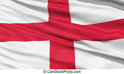 Flag of England - The waving Flag of England with the St...