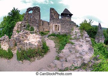 Castle in the village Nevicke in Transcarpathia, Ukraine