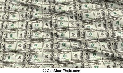 Sheet Uncut American Dollar - Crumpled sheet of uncut...