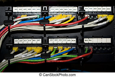 Switching bay with lots of RJ45 - Switching bay with lots of...