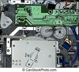 Part of the interior of a printer - It's a part of the...