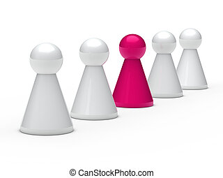 3d figure leadership - 3d figure in a series with leadership