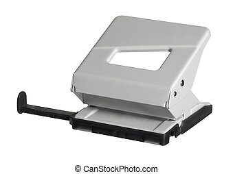 white hole puncher - Studio photography of a white office...