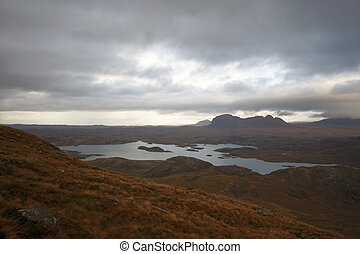 surreal landscape around Stac Pollaidh - fantastic panoramic...