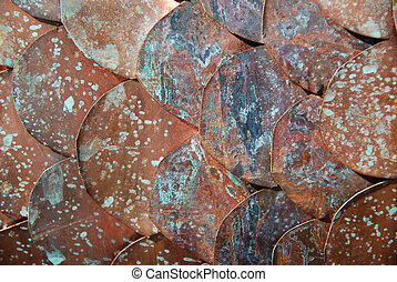 copper disc background