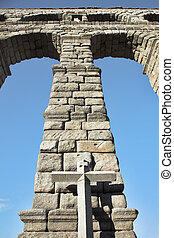 Aqueduct in the Spanish Segovia