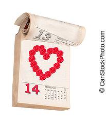 カレンダー, 日, バレンタイン