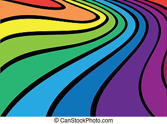 Colorful rainbow background - A colorful rainbow abstract...