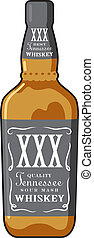 Whiskey Bottle - Vector illustration of a generic bottle of...