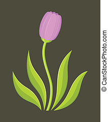 Flower Logo - Stylized vector illustration of flower.