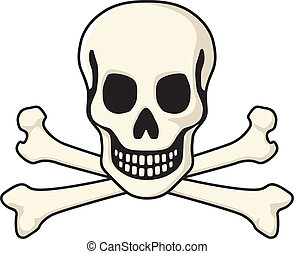 Skull and Crossbones - The classic pirate jolly roger symbol...