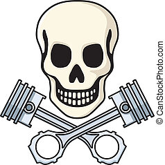Skull and Pistons - Vector illustration inspired by the logo...