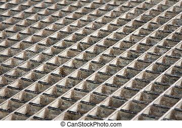 Metal grid - Background of grunge metal grid