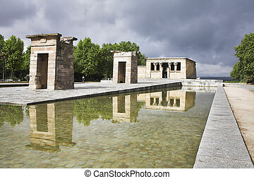 Temple Debod in the center of Madrid - The ancient Egyptian...