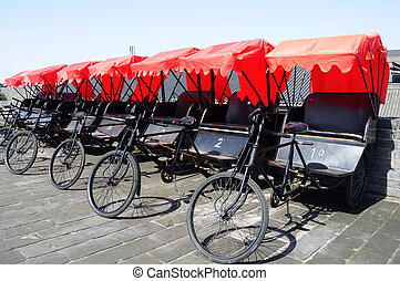 Rickshaws in Xian - Rickshaws in the famous ancient city of...