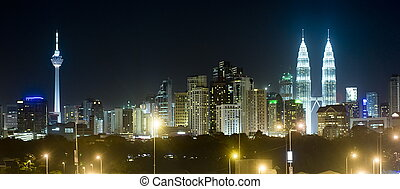 Kuala Lumpur - Panorama of Kuala Lumpur at night Malaysia