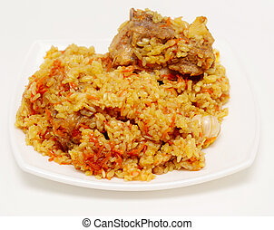 pilau - rice pilau on a plate