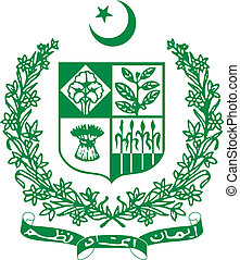 Pakistan - Vector coat of arms of Pakistan