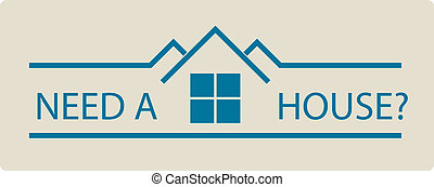 real estate logo - Real estate vector illustration of a...