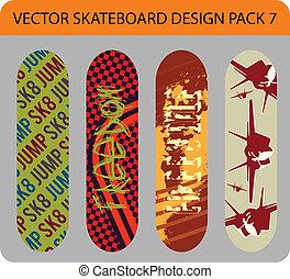 Skateboard design pack 7