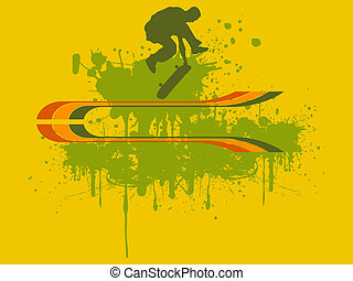 Skateboarding - vector illustration of a skateboarder...