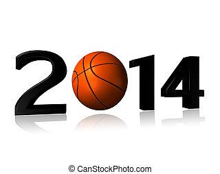 Big 2014 basket design - It's a big 2014 basket logo on a...