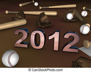 2012 in the middle of baseball batts balls and gloves