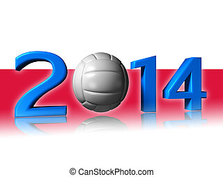 2014 volley design with poland flag
