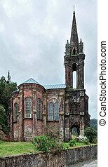 church ruin at Sao Miguel Island - old church ruin at Sao...