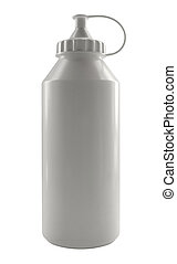 white plastic paint bottle - studio photography of a white...