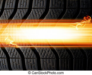 tire and flames background - tire and flames abstract...
