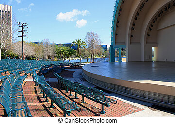 Downtown Orlando, Florida (16) - The amphitheatre at Lake...