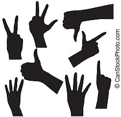 Human Hand collection, different hands, gestures, signals...