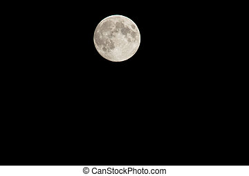full moon at night - the full moon shines in the night....