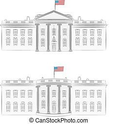 White House vector - White House - detailed vector...