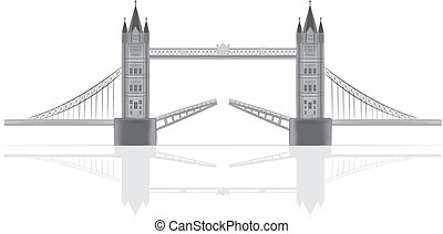 Bridge vector illustration