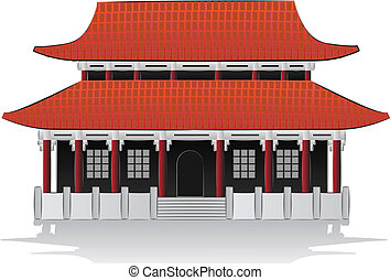 Chinese house illustration