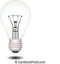 Light bulb vector illustration