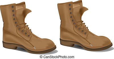 Boots detail vector illustration