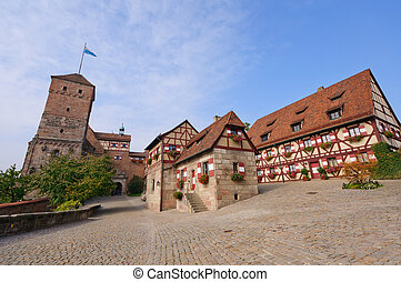 Nuremberg Castle Kaiserburg is a historical building on a...