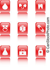 hospital internet icon collection