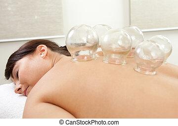acupuntura, cupping, tratamiento