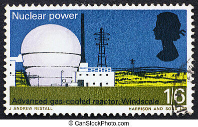 Postage stamp USA 1966 Windscale atomic reactor - GREAT...