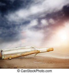 massage in the bottle - concept with natural sun, selective...
