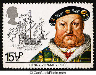 Postage stamp GB 1982 King Henry VIII - GREAT BRITAIN CIRCA...