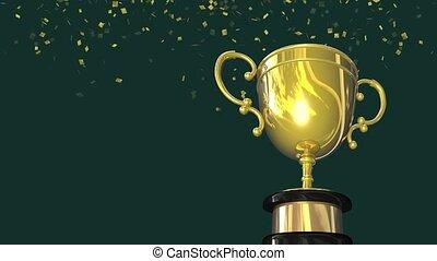 Gold Winners Trophy Title Loop HD