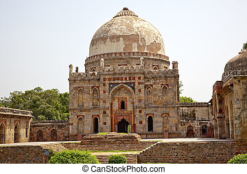 Ancient Dome Bara Gumbad Tomb Lodi Gardens New Delhi India