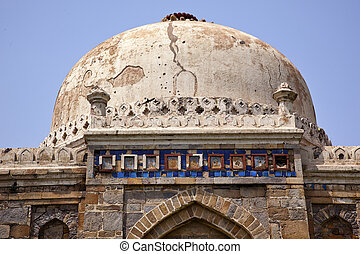 Large Ancient Dome Sheesh Shish Gumbad Tomb Lodi Gardens New Delhi India