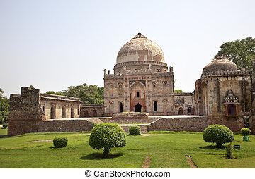 Bara Gumbad Tomb Lodi Gardens New Delhi India - Ancient Bara...